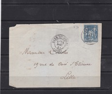 N° 90   SUR Fragment   24 NOV. 1881   REF ACDIV - 1876-1898 Sage (Type II)