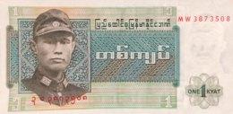 Myanmar 1 Kyat, P-56 (1972) - UNC - Myanmar