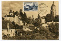 10220  FRANCE  N° 905  Arbois  PJ  Du 23.6.51  TB/TTB - Maximum Cards