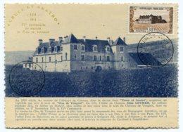 10222  FRANCE  N° 913  Château Du Clos De Vougeot  PJ  Du 17.11.51  TB/TTB - Maximum Cards