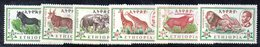 ETP90 - ETIOPIA 1961 , Yvert  N 371/376  ***  MNH  ORDINARIA FAUNA - Ethiopia