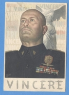 FASCISMO -  Benito Mussolini  VINCERE  ILLUSTRATORE BOCCASILE - Guerra 1939-45