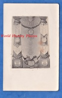 CPA Photo - Menu Aquarellé Du Noel 1915 Au QG Du 1er C.A. - Lt Demange , Lamontagne - Officier Moigno - Weltkrieg 1914-18