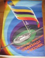 Affiche Officielle Des 22ème Olympiades. MOSCOU, Du 19 Juillet Au 3 Août 1980. Grand Format: 85 X 56 Cm - Olympics