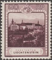 Liechtenstein 1930 Y&T / Michel 104 Série Courante 90 R. Abbaye, Monastère De Schellenberg. NSC  Cote 440 €. - Abbayes & Monastères