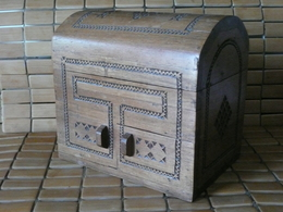 RARE - QUEYRAS - Coffre à Système Et Tiroir XIXe S - Boîtes/Coffrets