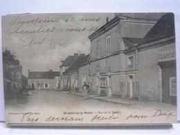 72 - SAINT JEAN DE LA MOTTE - RUE DE LA MAIRIE - DOS SIMPLE - 1906 - France