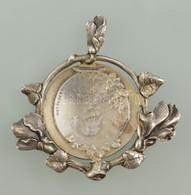 Ezüst (Ag.) Melltű, Jelzés Nélkül, 5×5 Cm, Nettó 18 G - Jewels & Clocks