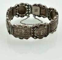 Távol-keleti Ezüst (Ag.) Karkötő, Jelzett, D: 7 Cm, Nettó 31,4 G - Jewels & Clocks