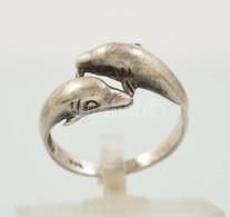 Ezüst(Ag) Delfines Gyűrű, Jelzett, Méret: 55, Nettó: 2,5 G - Jewels & Clocks