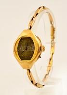 Cca 1900 14K Arany Karóra Arany Szíjjal. Az óra Szerkezet Javításra Szorul. / 14 C Gold Wristwatch Does Not Work. Br:19, - Jewels & Clocks