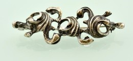 Ezüst(Ag) Bross, Jelzett, H: 5 Cm, Nettó: 5,9 G - Jewels & Clocks