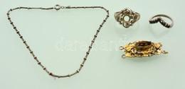 Ezüst(Ag) Vegyes Tétel, Közte Sérültek, Jelzéssel és Jelzés Nélkül, Bruttó: 14,2 G - Jewels & Clocks