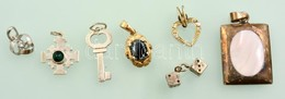 Ezüst(Ag) Medálok, Jelzettek, 7 Db, Bruttó: 16,7 G - Jewels & Clocks