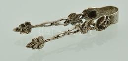 Ezüst(Ag) Rózsás Cukorfogó, Jelzett, H: 8 Cm, Nettó: 12,7 G - Jewels & Clocks