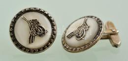 Ezüst(Ag) Mandzsettagomb Párban, Jelzett, D: 2 Cm, Bruttó: 10,8 G - Jewels & Clocks