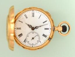Arany (Au) 14 K Remontoir Zsebóra, Másodpercmutatóval, Javításra Szorul, Jelzett, Számozott, D: 3,2 Cm, Bruttó: 30,9 G - Jewels & Clocks