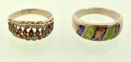Ezüst(Ag) Gyűrű, 2 Db, Jelzett, Méret: 51, 54, Bruttó: 7,5g - Jewels & Clocks