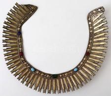 1900 Ezüst (Ag.) Glória, Festett üvegkövekkel (egyik Hiányzik), 28×23 Cm, Bruttó:180 G - Jewels & Clocks
