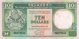 Hong Kong 10 Dollars, P-191c (1.1.1992) - UNC - Hongkong