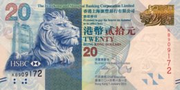 Hong Kong 20 Dollars, P-212c (1.1.2013) - UNC - Hongkong