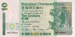 Hong Kong 10 Dollars, P-284a (1.1.1993) - UNC - Hongkong