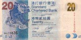 Hong Kong 20 Dollars, P-297a (1.1.2010) - UNC - Hongkong