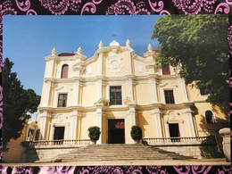 MACAU ST. JOSEPH'S SEMINARY AND CHURCH PPC PRINTED BY CLM. - Chine