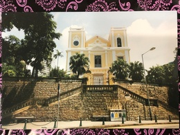 MACAU ST. LAWRENCE'S CHURCH PPC PRINTED BY CLM. - Chine