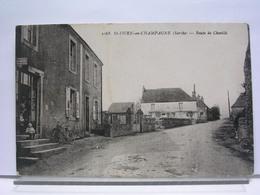 72 - SAINT OUEN EN CHAMPAGNE - ROUTE DE CHEVILLE - ANIMEE - France