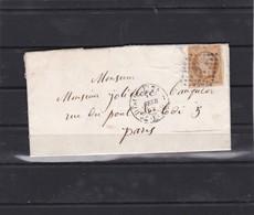 "LAC  +  N° 13 B  + CACHET 1520   BUREAU DE QUARTIER "" E "" ROMAINES  7 FEV. 1862   REF ACDIV - 1853-1860 Napoléon III"