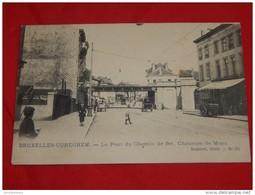 BRUXELLES - ANDERLECHT - CUREGHEM - Le Pont De Chemin De Fer, Chaussée De Mons  -  1904 -  (2 Scans) - Anderlecht