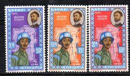 ETP97 - ETIOPIA 1962 , Posta Aerea Yvert  N 68/70 ***  CONGO - Ethiopia