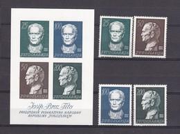 Jugoslawien - 1962 - Michel 1003/1006A+Block 8 - Postfrisch - 34 Euro - 1945-1992 Socialist Federal Republic Of Yugoslavia
