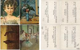 4 CPA - Repro Relief - L' Angélus (Millet)bLe Vase Beu (Cézanne) MissMurray (Sir Thomas Lawrence) Danse (Degas) (110596) - Peintures & Tableaux