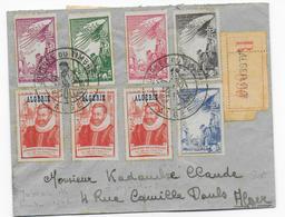 ALGERIE - 1946 - VIGNETTE VICTIMES De GUERRE PTT Sur ENVELOPPE RECOMMANDEE De ALGER JOURNEE DU TIMBRE - Marcophilie (Lettres)