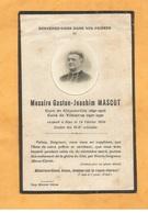CARTE MORTUAIRE GENEALOGIE FAIRE PART  DECES CURE  MASCOT CLIPONVILLE YEBLERON 1866 1930 - Décès