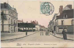 Aube NOGENT S/ SEINE Faubourg De Troyes Colorisé Animation - Nogent-sur-Seine