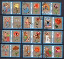 FLEURS  Et   SIGNES DU ZODIAQUE  --  Lot De 12 Timbres -- - Pflanzen Und Botanik