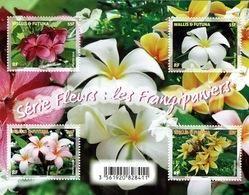 Wallis And Futuna, Frangipani, Plumeria, 2018, MNH VF  Awesome Sheet Of 4 - Unused Stamps