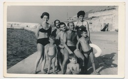 REAL PHOTO Ancienne Beach Group Swimsuit Women Trunks Men And  Boys, Hommes Femmes Et Garcons Plage Old Orig. - Photographs