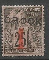 OBOCK N° 21 NEUF* CHARNIERE  / MH / Signé CALVES - Obock (1892-1899)