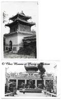 INDOCHINE - PAGODE ET EGLISE ANNAMITE - LOT DE 2 CARTES PHOTOS - Postcards