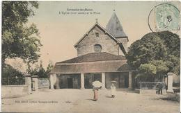 Marne SERMAIZE LES BAINS L'église Et La Place  Colorisé Animation - Sermaize-les-Bains