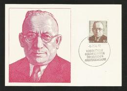 DDR 1974  Mi.Nr. 1917 , Carl Moltmann - Persönlichkeiten Der Deutschen Arbeiterbewegung - Maximum Karte - 9.-7.74 - DDR