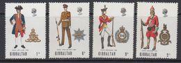 Gibraltar 1969 Uniforms 4v  ** Mnh (41487) - Gibraltar