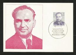 DDR 1974  Mi.Nr. 1916 , Kurt Bürger - Persönlichkeiten Der Deutschen Arbeiterbewegung - Maximum Karte - 9.-7.74 - DDR