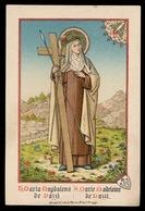 HEILIG PRENTJE IMAGE PIEUSE - MARIA MAGDALENA DE PAZZI   - 2 AFBEELDINGEN - Images Religieuses