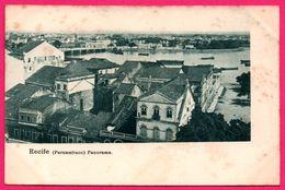 Brésil - Recife - Pernambuco - Panorama - Bateaux - Pont - Recife