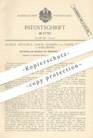 Original Patent - Arthur Antrobus , Samuel Marsden , Samuel Furniss , Manchester , 1890 , Anspannen Der Webstuhl - Fäden - Documents Historiques